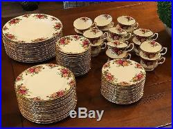 Royal Albert Old Country Roses-Service for 16 (80 Pieces)