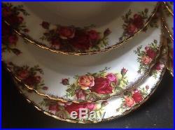 Royal Albert Old Country Roses Servizio 6 piatti fondi cm. 20 1'qualita