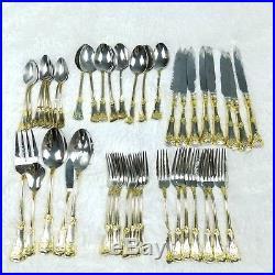 Royal Albert Old Country Roses Set 44 Pieces Flatware Silverware & Serveware