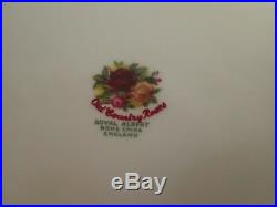 Royal Albert Old Country Roses Set 8 Dinner Plates England VTG