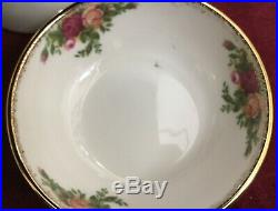 Royal Albert Old Country Roses Set of 10 Rice Bowls with 3 Decals 3 3/8 X 1 3/8