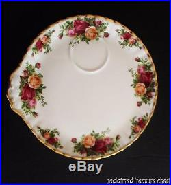 Royal Albert Old Country Roses Snack Plates & Cups Set 9 Montrose England