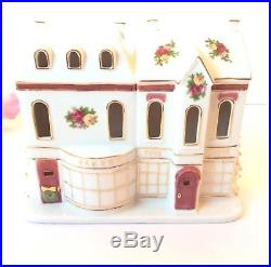 Royal Albert Old Country Roses Snowy Toy Bake Shop Bakery Light House Night Deco