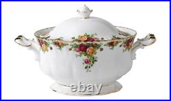 Royal Albert Old Country Roses Soup Tureen-RARE Quality Original Made in England