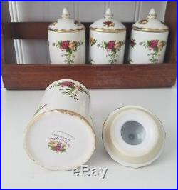 Royal Albert Old Country Roses Spice Rack With 8 Spice Jars Royal Doulton