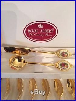 Royal Albert Old Country Roses Spoon Set RARE