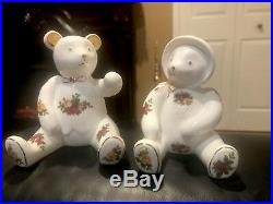 Royal Albert Old Country Roses TEDDY BEARS BOY GIRL Pair Fine China Figurine NEW