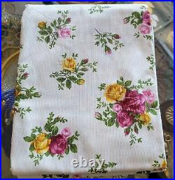 Royal Albert Old Country Roses Tablecloth 114 inches 60 inches without package