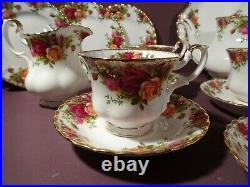 Royal Albert Old Country Roses, Tea Set Including Pot, Early Mark, 1st Quality