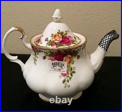 Royal Albert Old Country Roses Tea Set Total Five Pcs. New With Tags