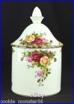 Royal Albert Old Country Roses Tea / Sugar / Coffee Canisters Set RARE