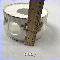 Royal Albert Old Country Roses Teapot Coffee Pot Warmer Stand Bone China ENGLAND
