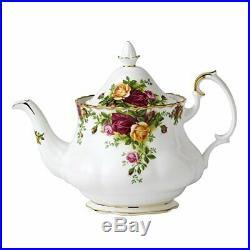 Royal Albert Old Country Roses Teapot MS 0.8Ltr White, Bone China