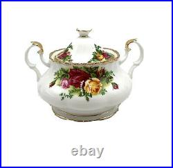 Royal Albert Old Country Roses Teapot-Sugar-Creamer 3 PC. Tea Complete Set New