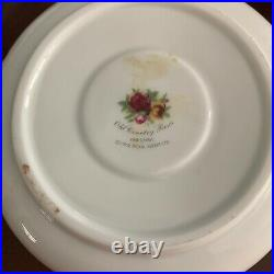 Royal Albert Old Country Roses Teapot with Warmer Fine China Flat Top Gold Gild