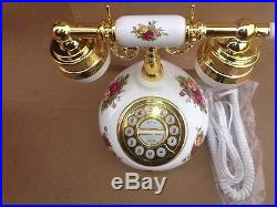 Royal Albert Old Country Roses Telephone Push Button, Never Used