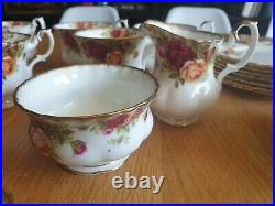 Royal Albert Old Country Roses Trios X 6 Cups Saucers & 2 X Serving Plates