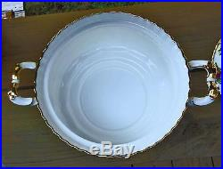 Royal Albert Old Country Roses Vegetable Soup Tureen 146oz 1962 Minty Condition