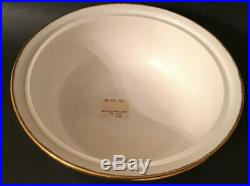 Royal Albert Old Country Roses covered serving bowl gold trim 8 1/2 label Rare