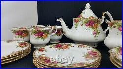 Royal Albert Old County Roses Set of 4 19 Piece Bone China Tea Set