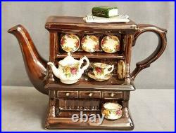 Royal Albert / Paul Cardew Old Country Roses Welsh Dresser Display Teapot