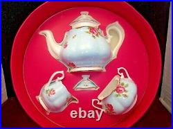 Royal Albert Polka Blue Vintage 3 Piece Tea Set