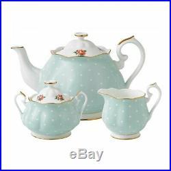 Royal Albert Polka Rose 3 Piece Tea Set