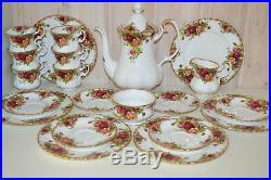 Royal Albert-Porzellan-Bone China-England-Old Country Roses-Kaffeeservice-21T-6P