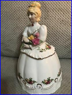 Royal Albert Rare 1962 Old Country Roses Victorian Lady Candy /Cookie Jar