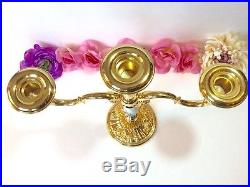Royal Albert Royal Doulton Old Country Roses 3 Light Candelabra Gold Plated