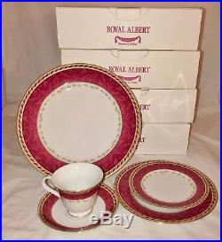 Royal Albert SEASONS OF COLOUROLD COUNTRY ROSES 4 PLACE SETTINGS 20 pc BOXES