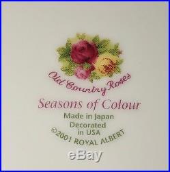 Royal Albert SEASONS OF COLOUROLD COUNTRY ROSES 4 PLACE SETTINGS 24 pc BOX