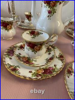 Royal Albert Service Old Country Roses 37 Teile
