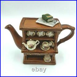 Royal Albert Teapot Old Country Roses Earthenware Welsh China Cabinet Nice