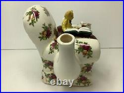Royal Albert Teapot by Paul Cardew'Old Country Roses' Bear Sitting in Chair