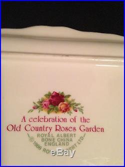 Royal Albert bone china old country roses garden dish