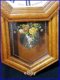 Royal Doulton Albert Old Country Roses Bulova Schoolhouse Wall Clock 18