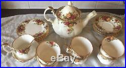 Royal albert bone china old english country roses full tea set