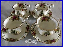 Royal albert old country roses Christmas Magic SET OF 4 CUPS AND SAUCERS #2