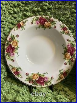Set of 9 Royal Albert Old Country Roses 8 Rim Soup Bowls 1962