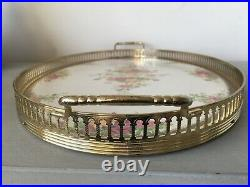 Ultra rare Royal Albert Old Country Roses Brass Gallery Melamine Tray by Mallod