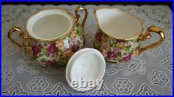 VINTAGE Royal Albert OLD COUNTRY ROSES Chintz Creamer and Sugar Bowl, England