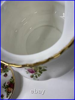 VTG Royal Albert Bone China Tea & Coffee Pot Old Country Roses England 6 Cups