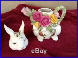 Vintage1962Royal AlbertOld Country RosesBone China Small Teapot7.5RARE