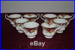 Vintage 40 Piece 1962 Royal Albert China England Old Country Roses 8 Person Set