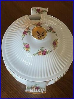 Vintage Royal Albert OLD COUNTRY ROSES Footed Soup Tureen