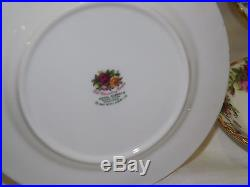 Vintage Royal Albert Old Country Roses 20 pc Dinnerware Set Service for 4