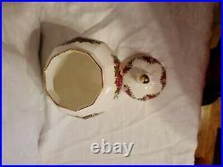 Vintage Royal Albert Old Country Roses RARE 8 Ginger Jar Ball Lid Excellent
