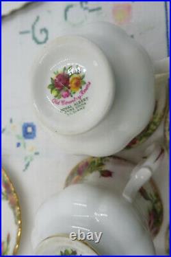 Vintage Royal Albert Old Country Roses coffee set 1962+