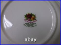 Vintage Royal Albert Porcelain Old Country Roses Set of 10 Rimmed Soup Bowls 8